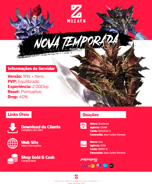 Introdução Marketing Mu Online 2020 , Zayn Jean Holls, Mu Online Flyer PSD